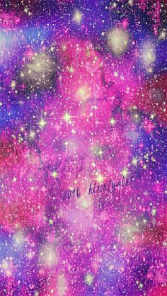 Pink & purple galaxy iPhone/Android wallpaper I created for the app CocoPPa! 2016hisonlygirl❤™