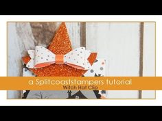 Witch Hat Clip by Kelly Acheson Make a cute clip to adorn a Halloween treat bag! For step by step still pictures, supply list and measurements as well as mor. Halloween Treat Holders, Halloween Treat Bags, Homemade Halloween, Halloween Boo, Halloween Cards, Holidays Halloween, Candy Crafts, Paper Crafts, Diy Crafts