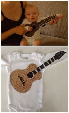 Future Rock Star | 36 Onesies For The Coolest Baby You Know - You and your baby can rock out with this onesie found here for $18.