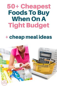 When money is tight we need to find ways to cut back on our budgets, and one of the easiest expenses to save money on is your grocery budget. There are many ways to save on food such as meal planning, couponing, buying in bulk, shopping sales, using grocery apps and much more but if you can put these strategies in place while buying the cheapest foods, you'll be able to stretch your grocery budget even further and get lower your grocery bill. Plus I share some recipes and meal ideas too! Groceries Budget, Save Money On Groceries, Ways To Save Money, Frugal Meals, Cheap Meals, Budget Meals, Cheap Grocery List, Save On Foods, Budget Meal Planning