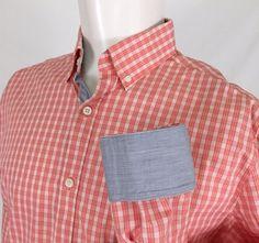 79792b51533825 Original Penguin Musingwear Plaid Flip Cuff Casual Dress Shirt Men s 15.5 32 33   OriginalPenguin  ButtonFront