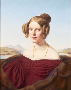 Portrait of Maria Feldtmann-Simons, 1836 by Louis Ammy Blanc
