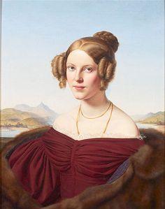 Maria Feldtmann-Simons, 1836, by Louis Ammy Blanc (German, 1810-1885)
