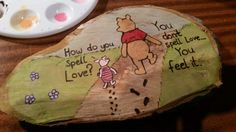 Winnie the Pooh and piglet quote plaque made by Blossom Burn Designs. https://m.facebook.com/Blossom-Burn-Designs-609666712470100/