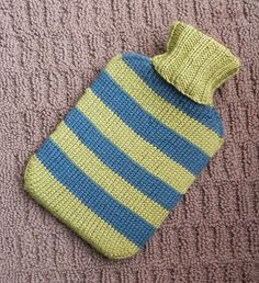 Ravelry: Hot Water Bottle Cover pattern by Lori Utley Easy Knitting Patterns, Free Knitting, Knitting Projects, Baby Knitting, Crochet Patterns, Knitting Ideas, Color Melon, Crochet Baby Jacket, Knit Crochet
