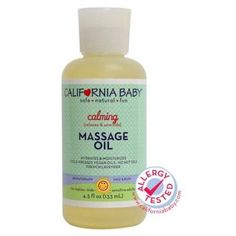 California Baby - Aromatherapy Massage Oil All Natural Calming - 4.5 oz., Clear
