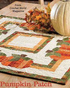 Pumpkin Patch from the Autumn 2016 issue of Quilter's World Magazine. Order a digital copy here: https://www.anniescatalog.com/detail.html?prod_id=132522
