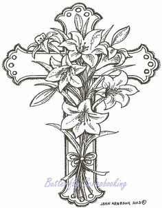 Easter Lily Coloring Page See More How To Draw A Flower Over Cross