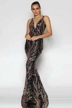 64f5fe7d9d4 Jadore JX1037 Black   Gold Sequin Mermaid Formal Dress. Formal Bridesmaids  Dresses
