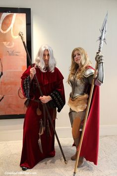 Raistlin and Laurana