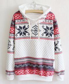 Ethnic Style Hooded Long Sleeve Flocky Printed Women's Hoodie Sweatshirts & Hoodies | RoseGal.com Mobile