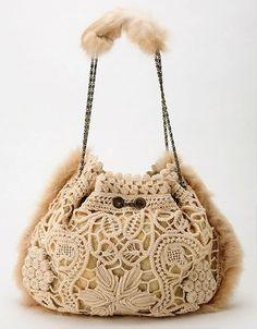Romanian Point Lace bag
