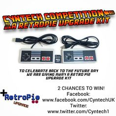 Something we loved from Instagram! #competition! To celebrate #backtothefuture day we are giving away some #retropie upgrade kits for the #raspberrypi!! You have 2 chances to #win check out our #twitter twitter.com/Cyntech1 and #facebook page http://on.fb.me/1GSZV4z!  Good Luck!  #giveaway #Cyntech #retrogaming #winning #tech #technology #gaming #retro #backtothefutureday #prizes #gadgets #games #raspberrypie by cyntech.uk Check us out http://bit.ly/1KyLetq