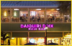 Daiquiri Deck | Frozen Daiquiris | Raw Bar Florida | Oysters