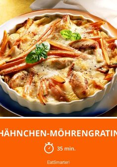 Chicken and carrot gratin – it& more often because it& simply super simple and delicious. <tr Pinner EAT SMARTER Quelle eatsmarter Bildgröße 735 x 1050 Boardname Low-Carb-Abendessen Ansichten 4384 - Healthy Crockpot Recipes, Low Carb Recipes, Beef Recipes, Vegetarian Recipes, Chicken Recipes, Kids Meals, Easy Meals, Law Carb, No Calorie Foods