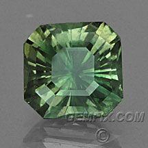 Green Montana Sapphire Square Radiant Princess Cut