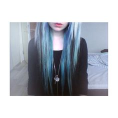 pastel goth | Tumblr ❤ liked on Polyvore featuring hair, pictures, people, blue and girls
