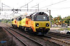 Yesterday, Colas Rail 70808 and 70809 were released from Liverpool Seaforth Docks. Both units arrived there on May 18 on board of the Atlantic Compass. The two PowerHauls left the Docks and