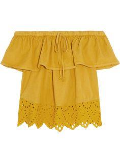 Top épaule dénudée jaune Madewell - 20 tops épaules dénudées pour se dévoiler - Elle
