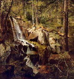 Jasper Francis Cropsey - Janetta Falls, New Jersey (1846)