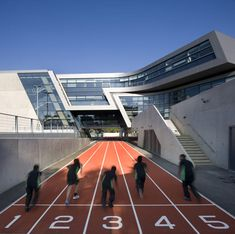 Zaha Hadid won the Stirling Prize – the UK's most prestigious architecture award – for a second year in a row thanks to this school in south London, which bridges a running track