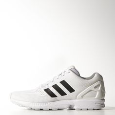 The ZX series started in 1984 and represents a collection of running shoes designed for runners of all types and abilities. It has grown to become one of the most iconic collections of adidas sneakers. Black And White Sneakers, White Shoes, Adidas Zx Flux, Street Style Looks, Adidas Shoes, Men's Shoes, Footwear, Mens Fashion, Stylish