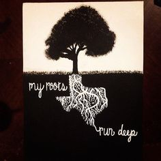 My Roots Run Deep Hand Painted Canvas