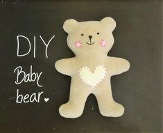 Teddy Bear Outline, Diy Teddy Bear, Small Teddy Bears, Teddy Bear Clothes, Teddy Bear Patterns Free, Teddy Bear Sewing Pattern, Sewing Patterns Free, Baby Patterns, Free Pattern