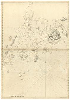 mount desert frenchmans bay maine 1776 map revolutionary war survey by british navy des