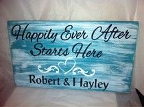Wedding sign. I love this! But in different colors.