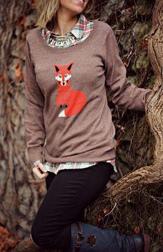 Foxy sweater...cute!