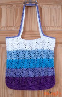 Striped Ombre Tote Bag ... meren ja sumuisten vuorten värit! PO eli Pyrenees Orientales kutsuu...