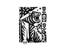 Tiger Print by Joshua Noom | Dribbble | Dribbble