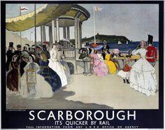 'Scarborough', LNER poster, 1935., Zinkeisen, Doris Clare