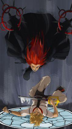 Kingdom Hearts - Axel x Roxas - AkuRoku Roxas Kingdom Hearts, Kingdom Hearts Games, Kindom Hearts, Video Game Art, Video Games, Comic, Manga, Final Fantasy, Images