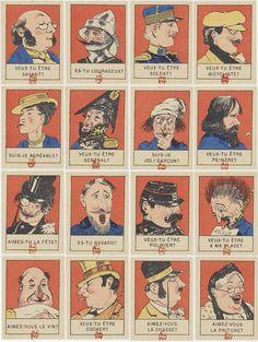 Le jeu des binettes, 1899 : http://gallica.bnf.fr/ark:/12148/btv1b10510132v