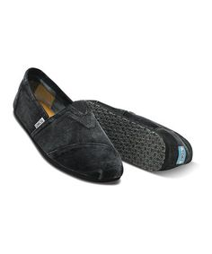 Take a look at this Black Stonewash Corduroy Classics - Men by TOMS on #zulily today!