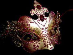 Pure Indulgence Filigree Masquerade Mask - Red