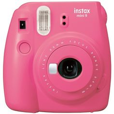 INSTAX MINI BY FUJIFILM Flamingo Pink Instax Mini 9 Camera ($69) ❤ liked on Polyvore featuring filler and flamingo