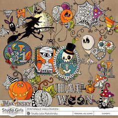 Zentangle Halloween by Julia Makotinsky