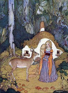 The Red Fairy--Gustaf Tenggren--Vintage Fairy Tale Illustration