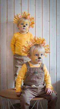 Ein schnelles Löwenkostum als Fasching Verkleidung für die Kinder. Kinder verkleiden sich super gerne, dieses Kostüm ist gemütlich, günstig und macht was her. Die Löwenverkleidung findet ihr auf dem Blog | Ichsowirso.de Purim Costumes, Halloween Costumes, Diy For Kids, Crafts For Kids, Baby Kostüm, Rabbit Costume, Diys, Bunny, Hipster
