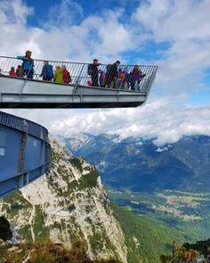 AlpspiX-Plattform am Osterfelderkopf am Fuße der Alpspitze.