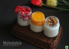 Mahalabia is a Middle Eastern Milk Pudding which can be made in no time and can be served and topped with your favourite toppings