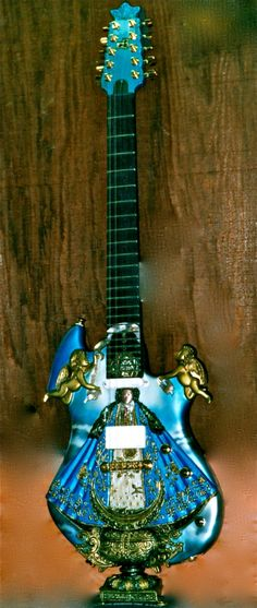 10 string guitar, the crown is made of gold The Crown, Guitars, Music Instruments, Gold, Musical Instruments, Guitar, Yellow
