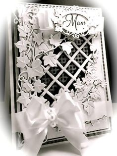 IC492, Mom, Mother, Mother's Day, America, Sue Wilson, Creative Expressions, Black and White, Card, Ivy, Checkered, Dies, www.cardsbamerica.blogspot.com/