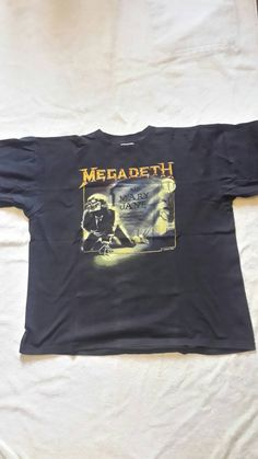 1988 Megadeth T Shirt by SeanScoil on Etsy