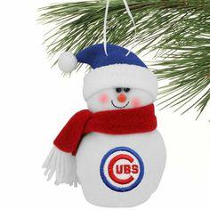 Chicago Cubs 6'' Plush Snowman Ornament