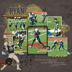 Football layout created by amberr featuring Sports: Football by Sahlin Studio