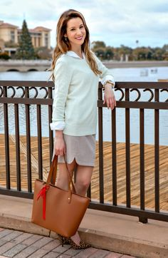 Work Chic in Mint and Leopard: Young Professional Office Attire Prep Outfits, Cute Outfits, Fashion Advice, Fashion Bloggers, Fashion Trends, Modest Fashion, Preppy Fashion, Florida Fashion, Prep Style